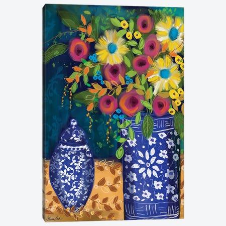 Blue Vases Canvas Print #BBN91} by Brenda Bush Canvas Art Print