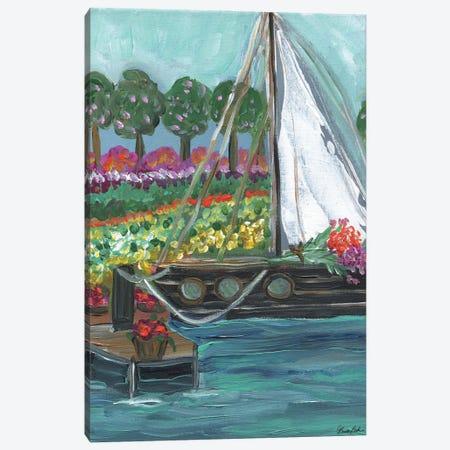 Stopping For Flowers Canvas Print #BBN93} by Brenda Bush Art Print