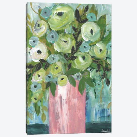 The Blush Vase Canvas Print #BBN98} by Brenda Bush Canvas Print
