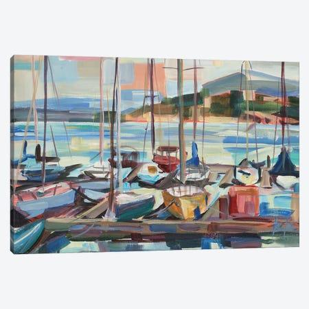 Leschi Evening Canvas Print #BBO18} by Brooke Borcherding Canvas Wall Art