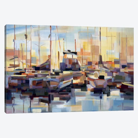 Boats Canvas Print #BBO1} by Brooke Borcherding Art Print
