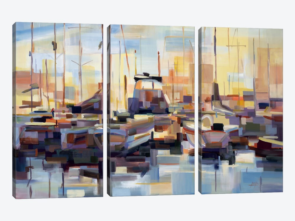 Boats by Brooke Borcherding 3-piece Canvas Artwork