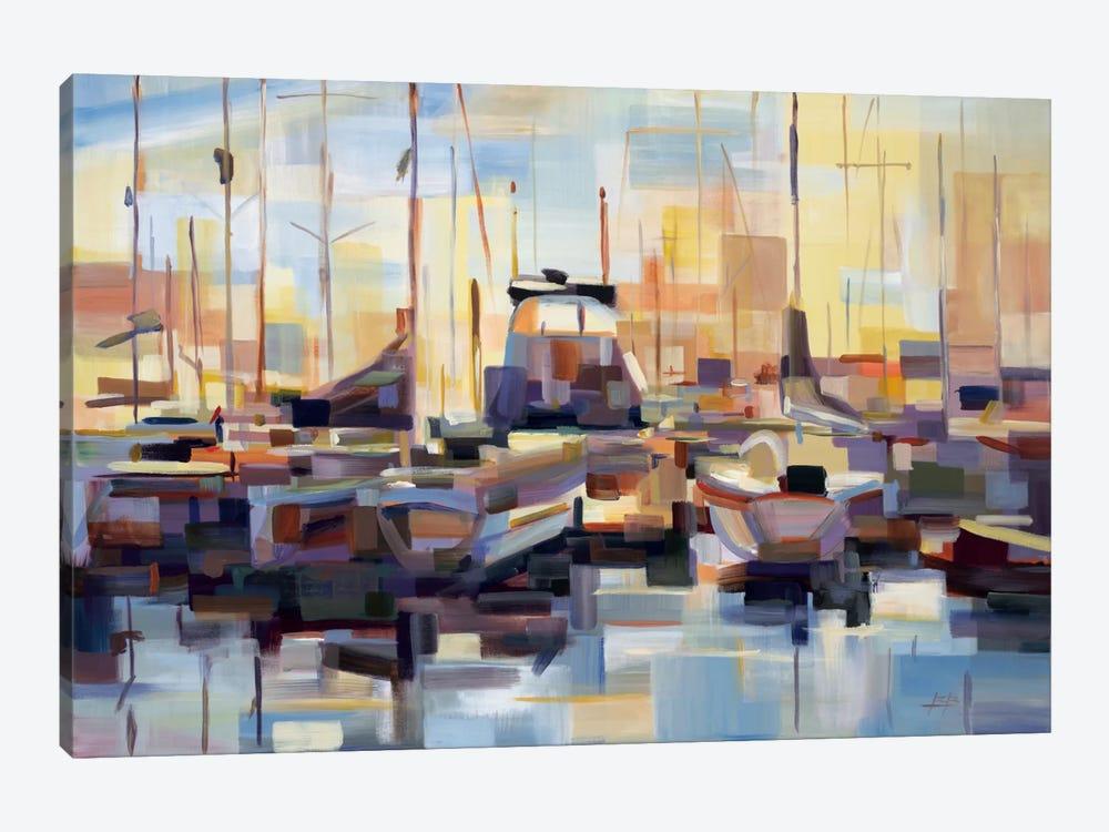 Boats by Brooke Borcherding 1-piece Canvas Artwork