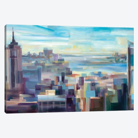 New York Skyline  Canvas Print #BBO20} by Brooke Borcherding Art Print