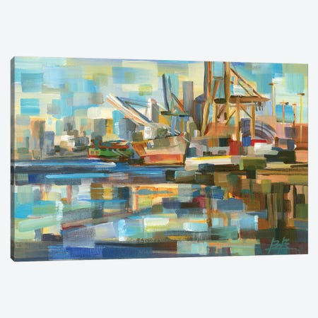 Port of Seattle Canvas Print #BBO21} by Brooke Borcherding Art Print
