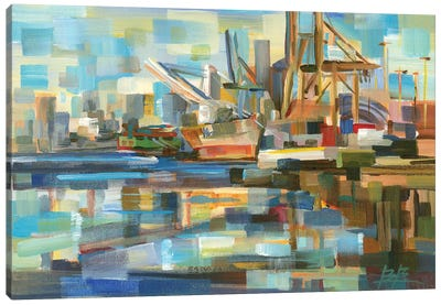 Port of Seattle Canvas Art Print