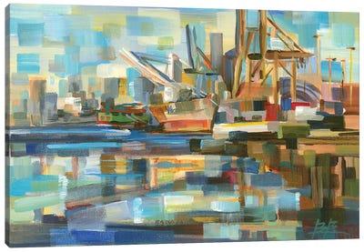 Port of Seattle Canvas Art Print