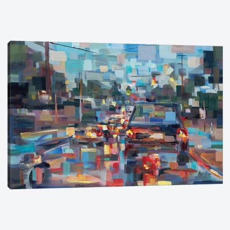Red Traffic 3-Piece Canvas #BBO22} by Brooke Borcherding Art Print