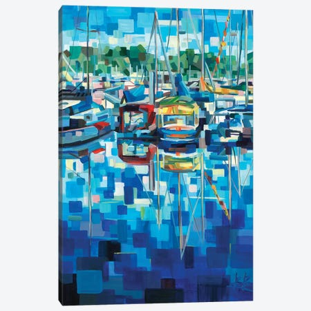 Untitled (Boats) Canvas Print #BBO24} by Brooke Borcherding Canvas Art