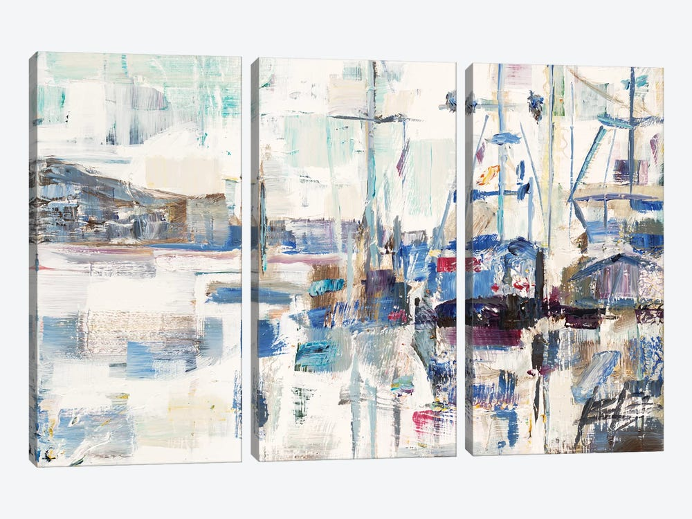 Across A Line by Brooke Borcherding 3-piece Canvas Art Print