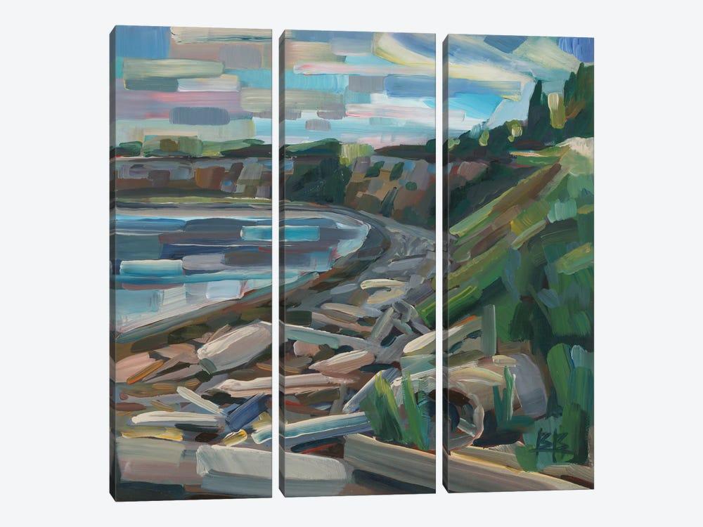 Early Morning On The Beach by Brooke Borcherding 3-piece Art Print
