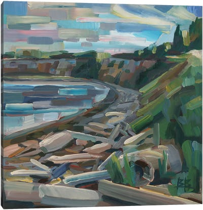 Early Morning On The Beach Canvas Art Print