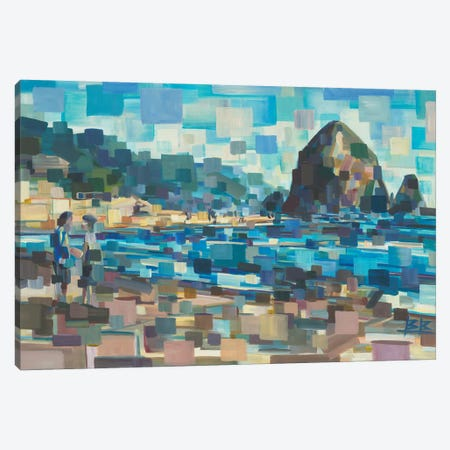 Evening In Cannon Beach Canvas Print #BBO31} by Brooke Borcherding Canvas Wall Art