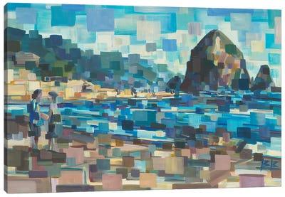Evening In Cannon Beach Canvas Art Print