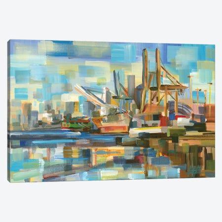 Port Of Seattle Canvas Print #BBO34} by Brooke Borcherding Canvas Art Print
