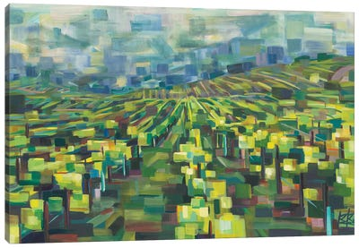 Yellow Grapevines Forever Canvas Art Print