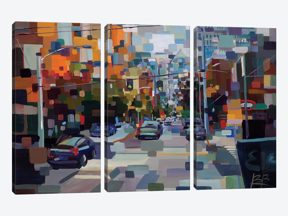 1st and Wall  by Brooke Borcherding 3-piece Canvas Art