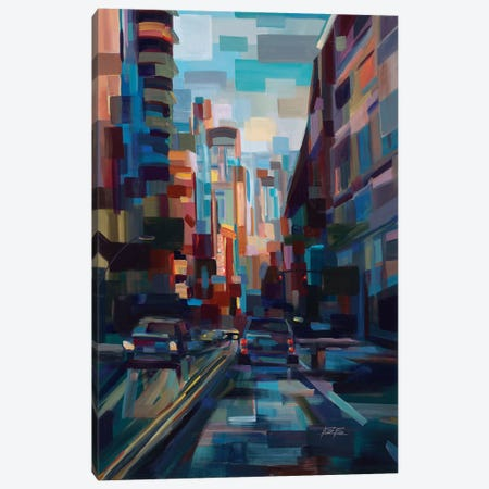Evening In The City 3-Piece Canvas #BBO3} by Brooke Borcherding Art Print