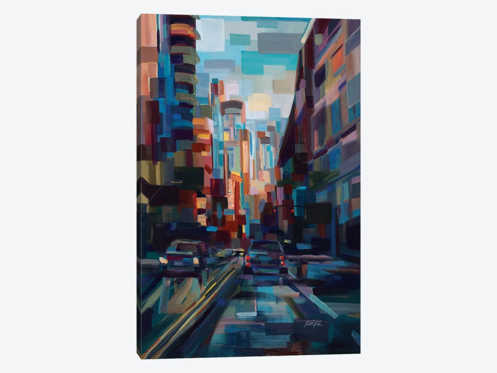 Evening In The City by Brooke Borcherding 1-piece Canvas Wall Art