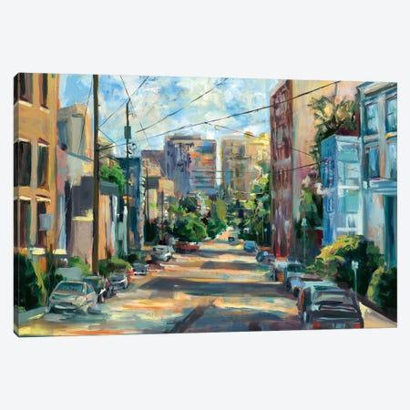 Belmont Street, Capital Hill  3-Piece Canvas #BBO43} by Brooke Borcherding Canvas Art Print