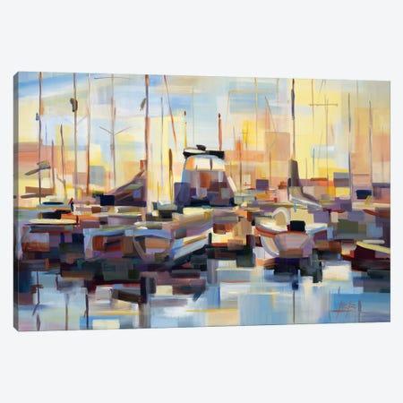 Boats Canvas Print #BBO45} by Brooke Borcherding Canvas Artwork
