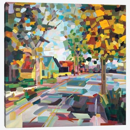 Fall Neighborhood Canvas Print #BBO4} by Brooke Borcherding Canvas Art