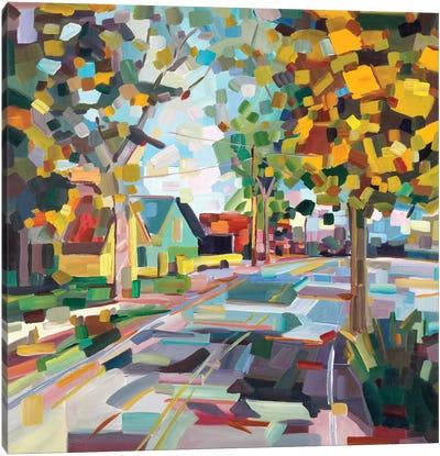 Fall Neighborhood Canvas Art Print