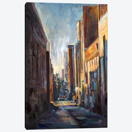 Long Hall in the City  Canvas Print #BBO50} by Brooke Borcherding Canvas Wall Art