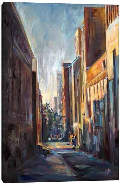 Long Hall in the City  Canvas Art Print