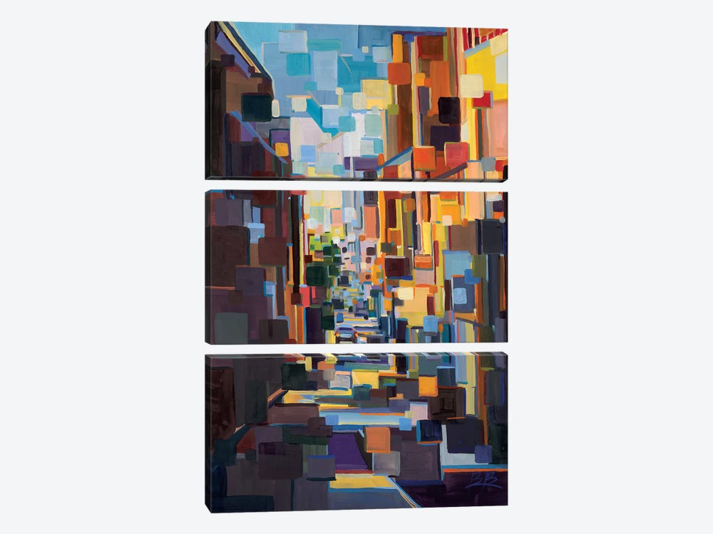 Long Hall in the City Deconstruction  by Brooke Borcherding 3-piece Canvas Artwork
