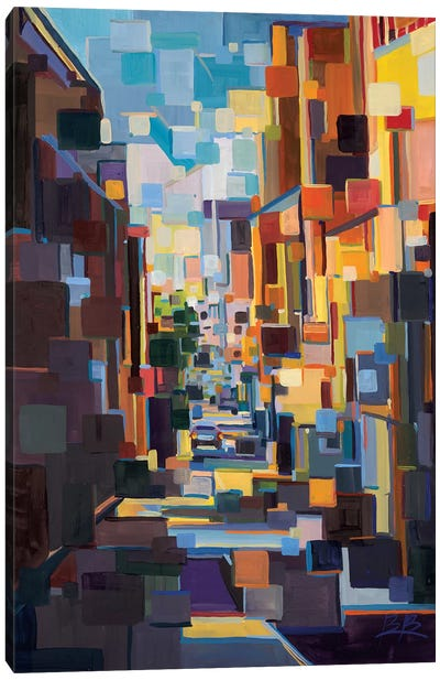 Long Hall in the City Deconstruction  Canvas Art Print