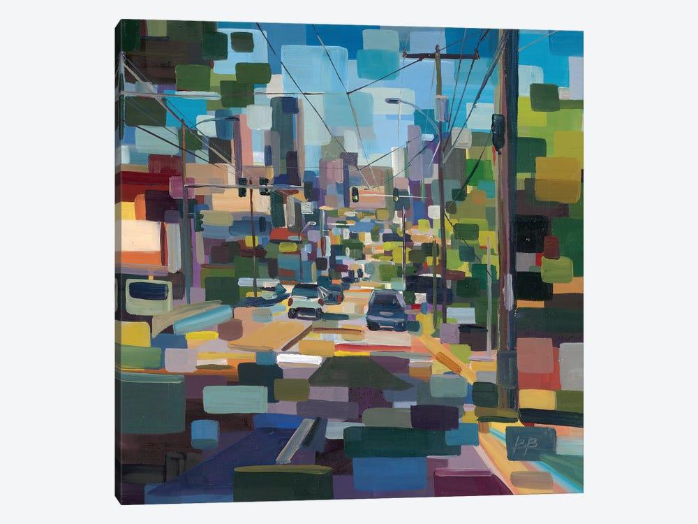 Madison to Pike  by Brooke Borcherding 1-piece Canvas Art Print