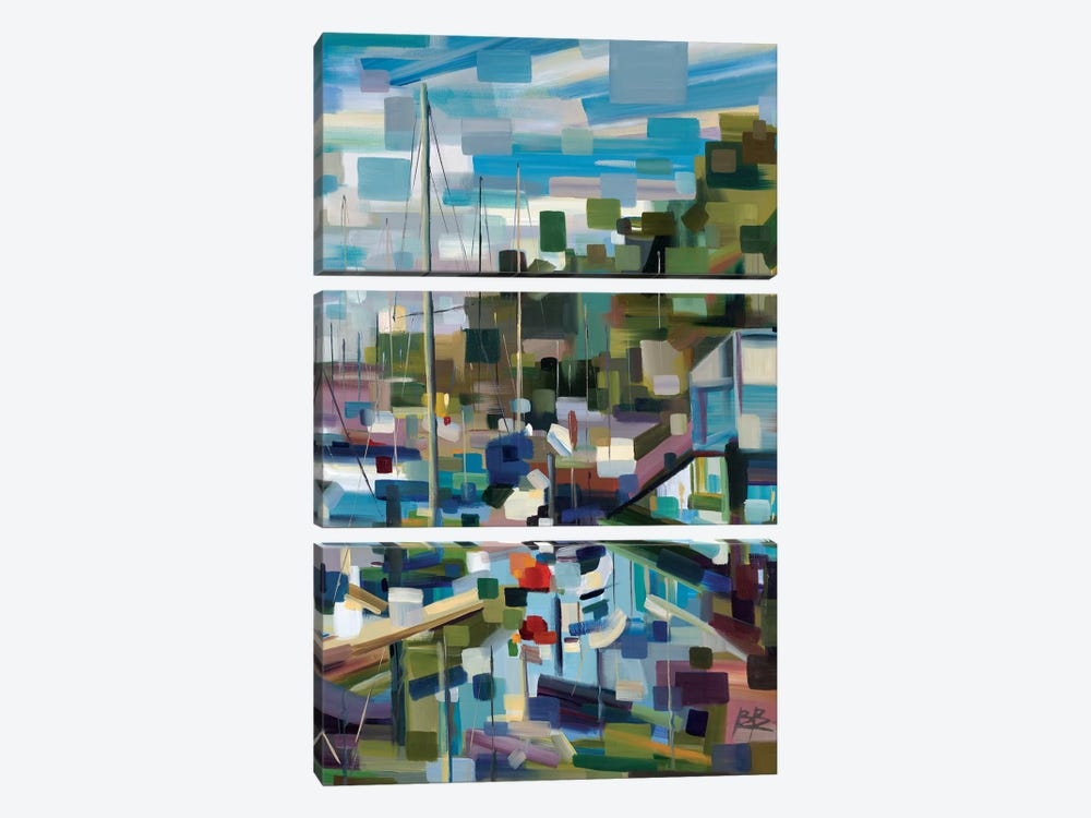 Marina Memories  by Brooke Borcherding 3-piece Canvas Art