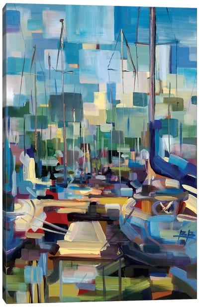 Morning Boats Canvas Art Print