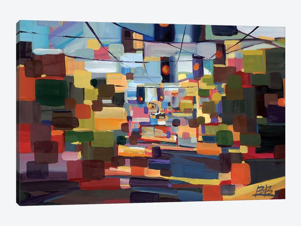 Morning Red on Madison  by Brooke Borcherding 1-piece Art Print
