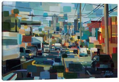 North on 1st Canvas Art Print