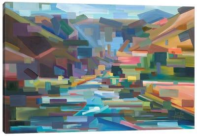 Pieces Of Yakima Canyon Canvas Art Print