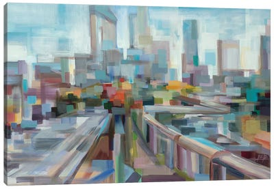 Afternoon Over the Highway Canvas Art Print