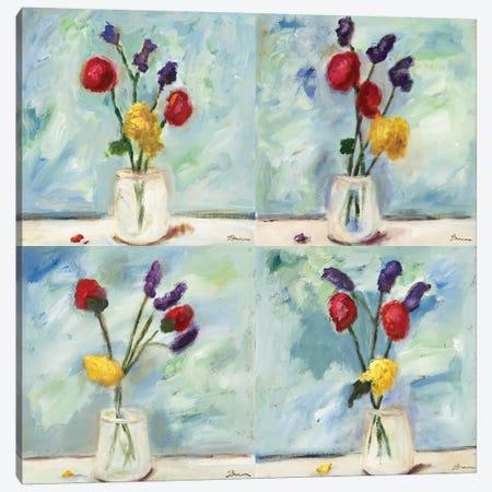 Sonoma Sprigs Quadtych Canvas Print Set #BBR4QSET001} by Bradford Brenner Canvas Artwork