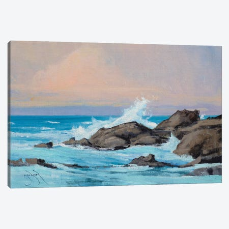 Fort Bragg Rocks And Water Canvas Print #BBU18} by Ben Bauer Canvas Art