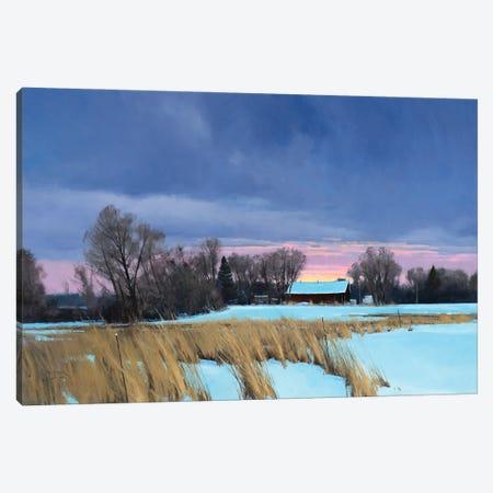 Approaching 0 Degrees Lake Elmo Farm Canvas Print #BBU6} by Ben Bauer Canvas Art Print