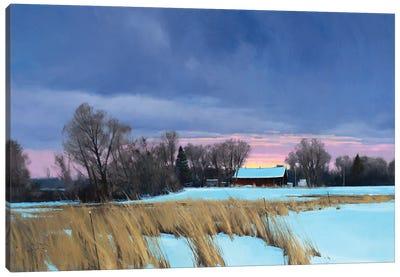 Approaching 0 Degrees Lake Elmo Farm Canvas Art Print