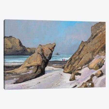 Big Sur Morning Canvas Print #BBU8} by Ben Bauer Canvas Wall Art