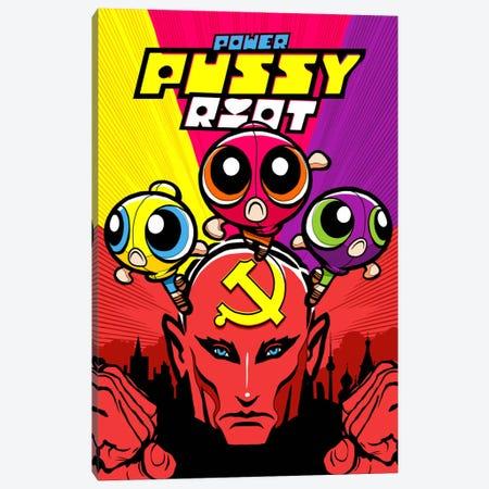 Power Pussy Riot Canvas Print #BBY104} by Butcher Billy Canvas Art Print