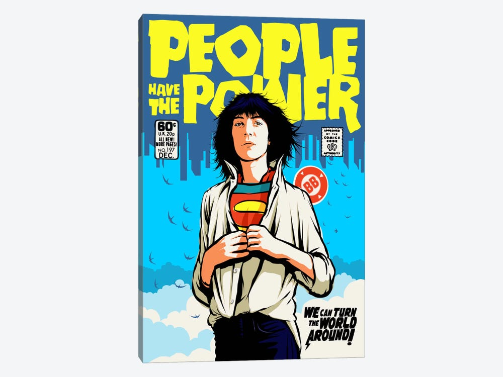 Power To The People 1-piece Canvas Artwork