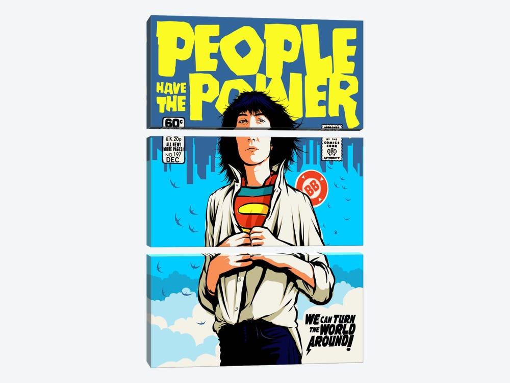 Power To The People by Butcher Billy 3-piece Canvas Wall Art