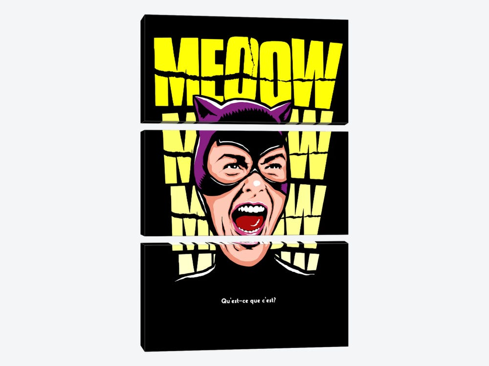 Psycho Cat by Butcher Billy 3-piece Canvas Print