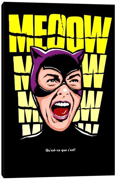Psycho Cat Canvas Art Print