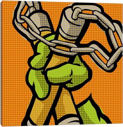 Roy's Pop Martial Art Chelonians - Orange Canvas Art Print