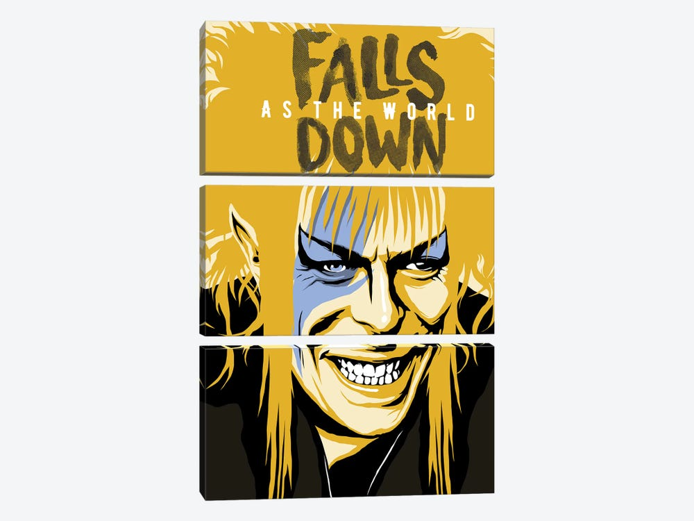 As The World Falls Down by Butcher Billy 3-piece Canvas Print